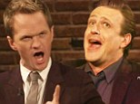 Confrontation! Neil Patrick Harris and Jason Segel launch into Les Miserables duet, forcing Cobie Smulders to take cover