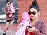 So that's why they call them hot pants! Sweaty Vanessa Hudgens shows off toned legs in tiny shorts as she leaves yoga class