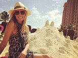 She's got skills! Heidi Klum posts an Instagram of her posing next to a sandcastle on Friday while on vacation in the Bahamas