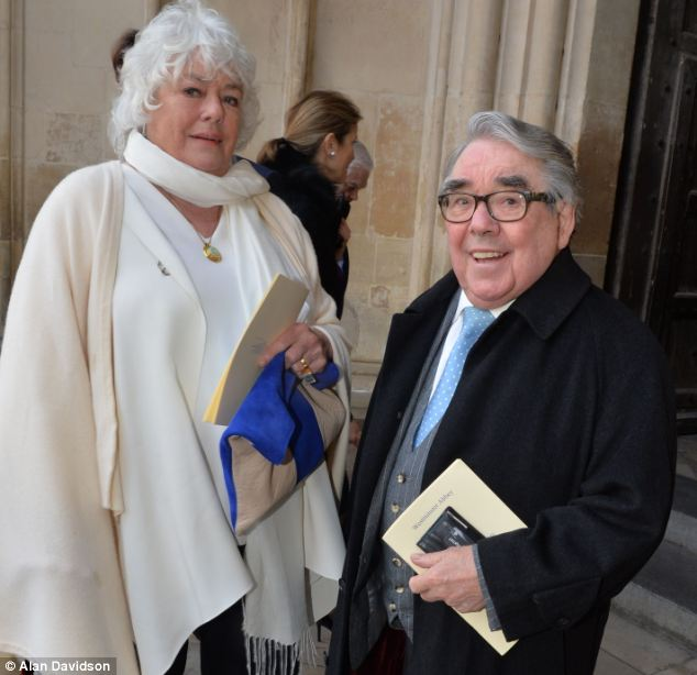 In fine form: The Corbetts at Westminster Abbey on Friday