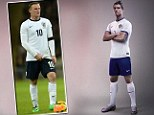 Spot the difference: Ronaldo in the Portugal kit and Rooney in the England strip