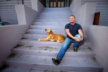 Oakland homosexual gentrifier Steve Kopff, with his dog Bacon—The New Face of White Supremacy?