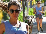 Jogging her troubles away: Nikki Reed throws herself into her workout regime after split from husband Paul McDonald
