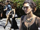 Chilling out: Vanessa Hudgens took a break from working out to head to church with her boyfriend Austin Butler on Sunday afternoon