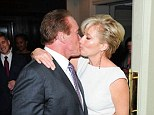 Arnold Schwarzenegger and Emma Thompson at the Empire Magazine Film Awards held at the Grosvenor Hotel,  London