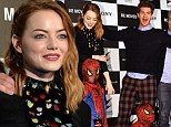 Emma Stone wears a sexy black dress to Tokyo event for Amazing Spider Man 2