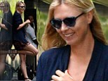 What loss? Smiling Maria Sharapova shows off her slim pins in patterned shorts, days after defeat by Serena Williams
