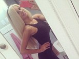 That's modest ... for her! Courtney Stodden wears black skintight dress as part of her 'church day' outfit