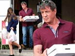 The Italian Stallion lives up to his roots! Sylvester Stallone and youngest daughter Scarlet pick up pizza feast to go