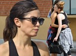 Nikki Reed gets comforting hug from gal pal at the gym in first outing since splitting with husband Paul McDonald