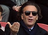 Angry: Massimo Cellino (centre) originally had his takeover bid rejected by the Football League