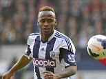 Bust up: Saido Berahino was involved in a row after West Brom's draw with Cardiff