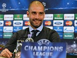 No go: Pep Guardiola denied he was offered the Manchester United job by Sir Alex Ferguson