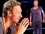 Singing tip: Chris Martin told a contestant struggling with a love song on Tuesday's edition of The Voice to think of English pop star Harry Styles when singing