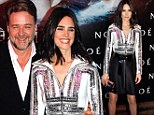 Jennifer Connelly dazzles in sequined top at Paris premiere of Noah... as Russell Crowe puts crude Twitter rant behind him to join her