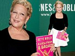 Sexy at 68! Bette Midler showed some skin in a white mini skirt as she promoted her memoir A View From A Broad at Barnes & Noble in New York City's Union Square on Tuesday
