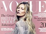 Dazzling: Kate Moss is Vogue's May cover star - her 35th for the glossy fashion bible. She wears a fringed jacket from her upcoming Topshop collection