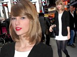 Is that a new trend? Taylor Swift saves time by fusing a white mini-dress with black jacket