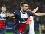 Menace: As Chelsea pressed for an equaliser in the first half, Lavezzi was a constant threat on the counter attack
