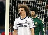 Not in the plan: John Terry, David Luiz, Petr Cech and Cesar Azpilicueta look dejected after Chelsea concede a second