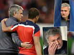 Charm offensive: Chelsea boss Jose Mourinho was full of love before and during the match with Paris Saint-Germain