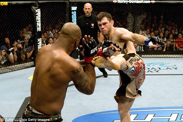 Champion: Griffin won the light-heavyweight title in 2008 when he beat Quinton 'Rampage' Jackson