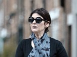 Grounded: Miss Lawson in London after her US travel ban. She was not allowed to board a flight to L.A. after her drug admission in court last year