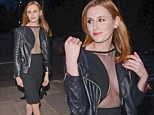 From Downton to downright racy! Laura Carmichael leaves little to the imagination in a cleavage-baring LBD
