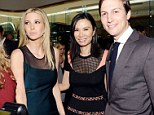 Awkward! Ivanka Trump pulls away from Rupert Murdoch's ex-wife Wendi Deng as she jumps into snap with Jared Kushner