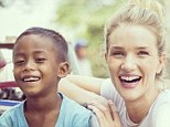 Shocked: The actress said it was distressing to learn 50 children under the age of five die every day in Cambodia from easily prevented diseases