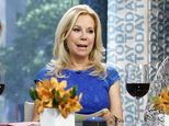 """This Sept. 4, 2013 photo released by NBC shows co-hosts Hoda Kotb, left, and Kathie Lee Gifford on the fourth hour of the """"Today"""" show in New York.  Gifford ..."""