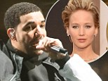 What does Rihanna think? Drake raps about Jennifer Lawrence in his new song Draft Day