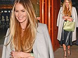 Less The Body, more the shoes! Elle Macpherson wows in stunning lace-up heels and leather midi skirt for dinner in London