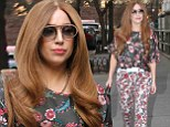 Just call me Stefani! Lady Gaga does her best impression of an average person wearing floral pants and a top on a rare night off