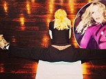 Making like a banana and splitting: Madonna's latest fitness photo