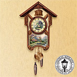 Thomas Kinkade Timeless Memories Wall Cuckoo Clock - First-ever Thomas Kinkade Cuckoo Clock a Lovely Way to Pass the Time! Exclusive Limited Edition Creates Unique Home Decor!
