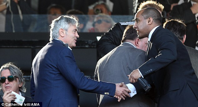 On the brink: Technical director Franco Baldini (left) is on borrowed time at Spurs