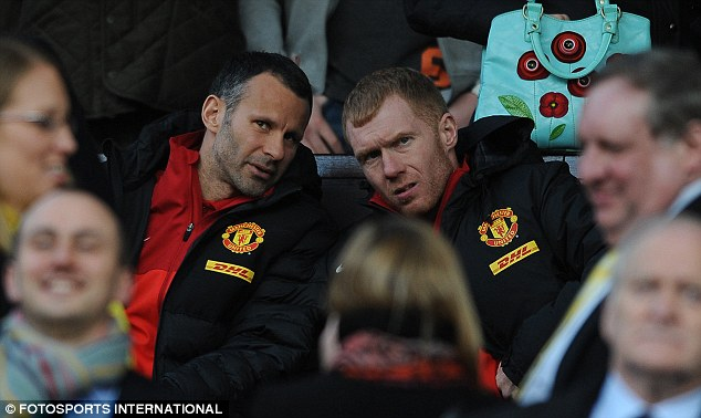 Double act: Giggs (left) and Scholes (right) already have legendary status at Old Trafford