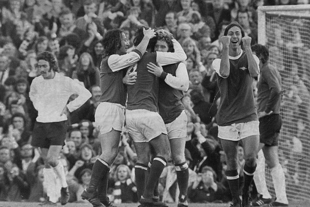 No nonsense: Former Arsenal forward Charlie George (right) back in 1973