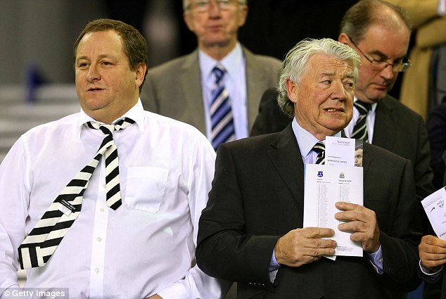 Failed experiment: Joe Kinnear (right) left Newcastle just a few months into his job as director of football