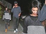 Kourtney Kardashian and Scott Disick opted for casual outfits as they enjoyed a meal at Baja Fresh in Calabasas, Los Angleles, on Saturday.