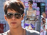 Dressed down Halle Berry gets some help from mini-me daughter Nahla on grocery run as she leaves baby Maceo at home
