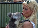 'I'm making out with a koala!' Tara Reid locks lips with Australian animal as she takes a break from filming 'extremely scary' horror flick