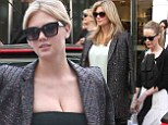 Mon dieu! Kate Upton displays plenty of decolletage in low-cut top as she shops with Leslie Mann in Paris