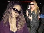 Rise and shine! Mariah Carey flaunts plump cleavage in lacy bra while hitting the studio at an unusually early hour