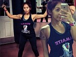 No baby bump yet! Former Jersey Shore star Snooki looks slimmer than ever after revealing she's expecting her second child