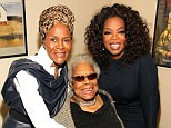 Oprah Winfrey helps her 'greatest teacher' Dr. Maya Angelou celebrate her 86th birthday and the unveiling of her portrait