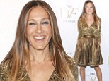 Sarah Jessica Parker shimmers in eye-catching metallic ensemble as she steps out at New York fashion event