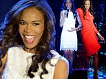 Destiny's Child star Michelle Williams lights up the stage in white lace after sultry turn in red during Jesus Christ Superstar special