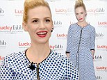 She knows her genre! Mad Men star January Jones channels a MUCH more risque Betty Draper at fashion event